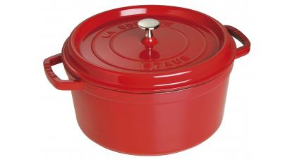 STAUB RONDE COCOTTE 30CM ROOD
